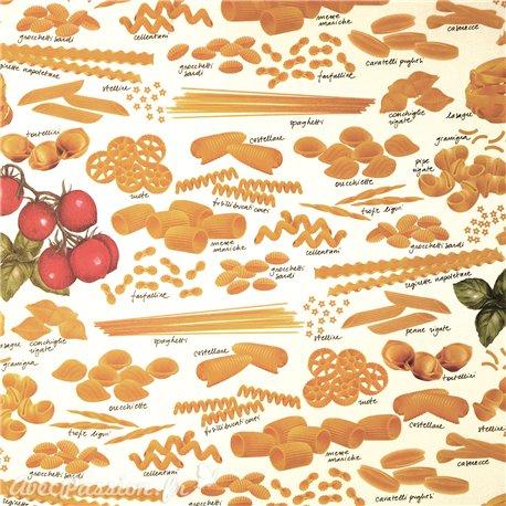 Papier tassotti motifs pâtes 50x70cm