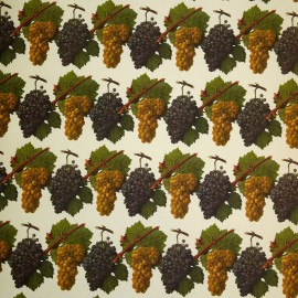 Papier tassotti motifs raisins 50x70cm