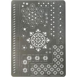 Pergamano grille polyvalente A5 34 cristaux de glace -31443-
