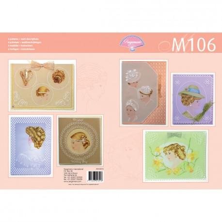 Pergamano livre de motifs M106 patron dames élégantes -82016-