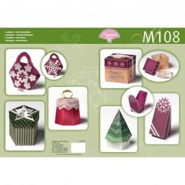 Pergamano livre de motifs M108 patron boîtes de noël -82018-