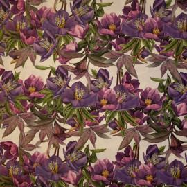 Papier tassotti motifs roses de noel violet 50x70cm 205