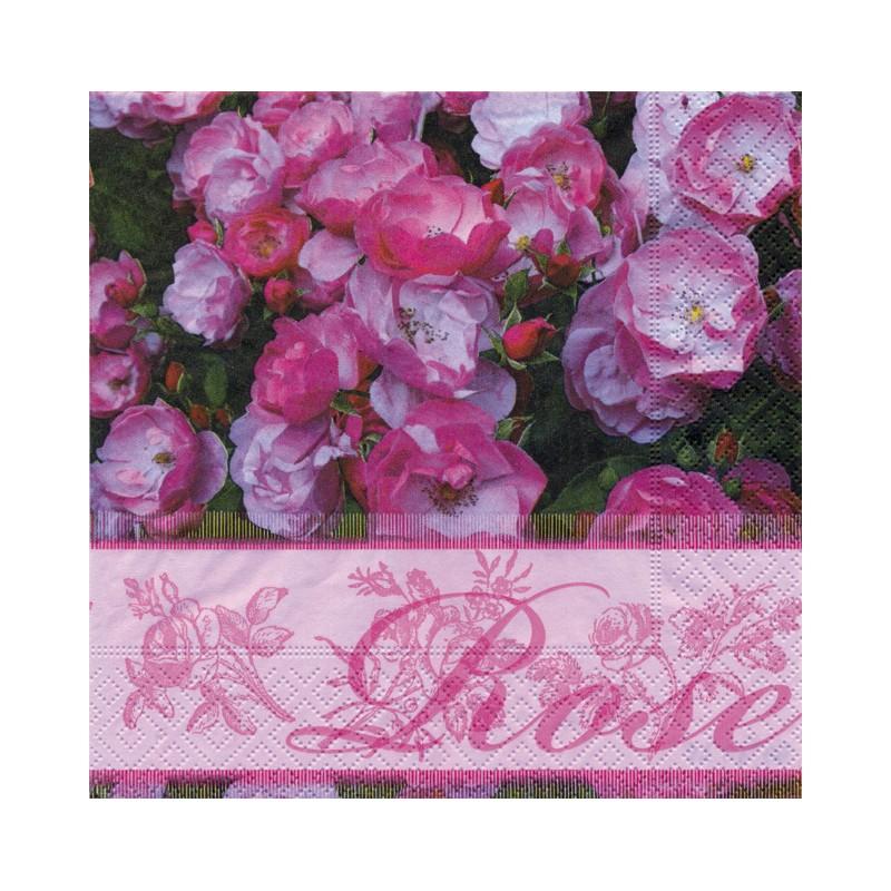Serviettes en papier pour serviettage roses anciennes roses - Serviettes en papier pour collage ...
