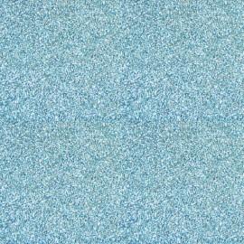 papier scrapbooking poudre de paillettes bleu