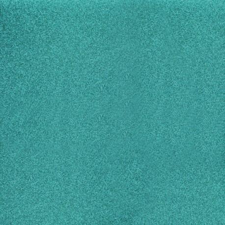 papier scrapbooking poudre de paillettes turquoise