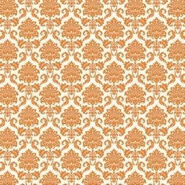 papier scrapbooking floqué banc arabesque en velours orange