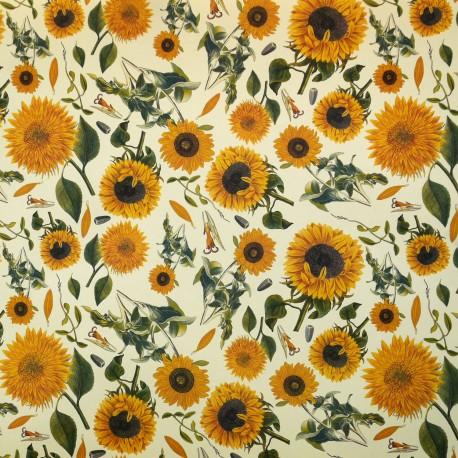 Papier tassotti motifs tournesols 50x70cm