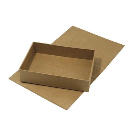 Objet brut boite en carton rectangulaire avec abattant