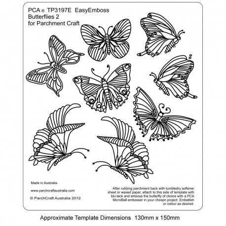 PCA Template GAUFRAGE n°2 petits papillons 3x4 cm