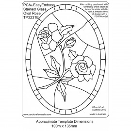 PCA Template GAUFRAGE rose en oval