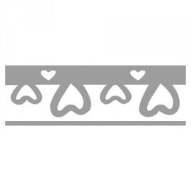 Perforatrice de bordures coeurs 1 x 4 cm