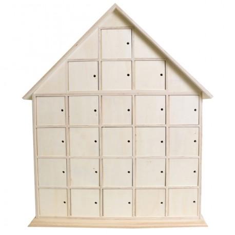 calendrier de l 39 avent maison en bois brut d corer. Black Bedroom Furniture Sets. Home Design Ideas