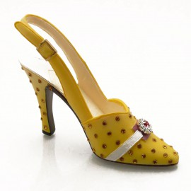 Chaussure miniature collection yellow