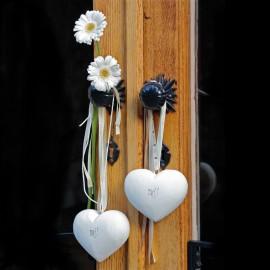 Décoration romantique Coeur en porcelaine à décorer