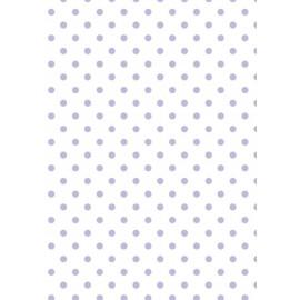 Tissu de coton tante ema blanc à pois lavande 50x65cm