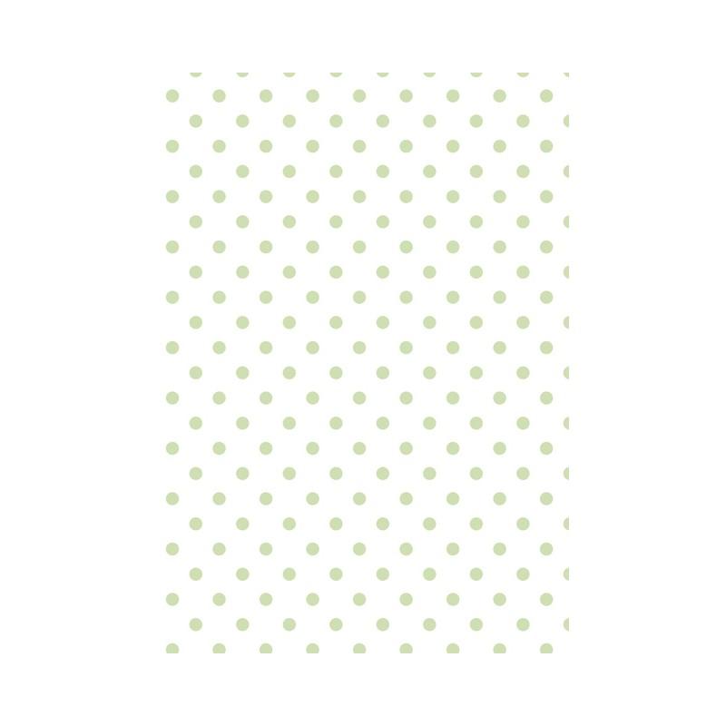cartonnage tissu coton tante ema blanc pois vert tendre. Black Bedroom Furniture Sets. Home Design Ideas