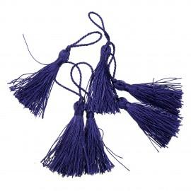 Glands pompons passementerie loisirs créatifs violet 5 cm
