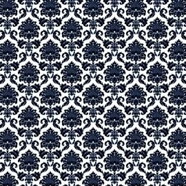 papier scrapbooking floqué banc arabesque en velours bleu