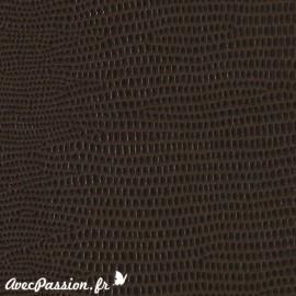 Papier Skivertex cuir lézard gris fonce 50x68.5cm