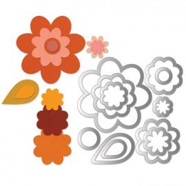 Dies découpe étiquettes fleurs 11 dies matrice Sizzix