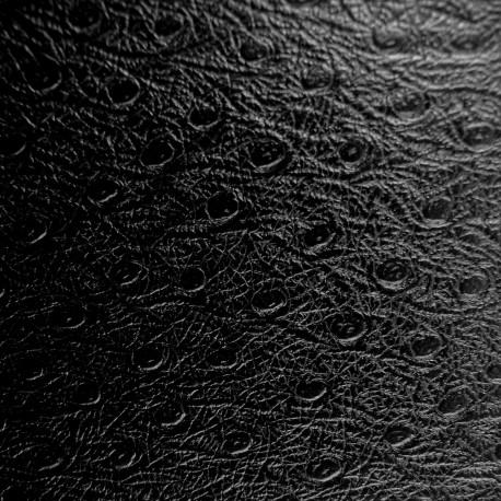 Papier simili cuir autruche ostra noir