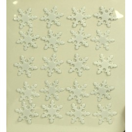 Attaches parisiennes x 20 1.9 cm flocons blanc