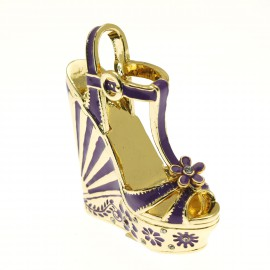 Chaussure miniature collection escarpin violet or laetitia
