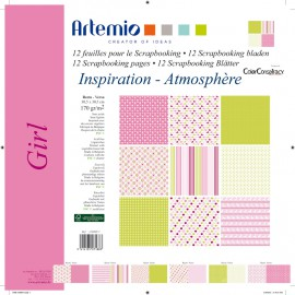 scrapbooking papier en assortiment girl
