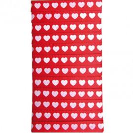 Ruban tissu love rouge et blanc 1cmx5m