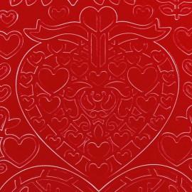 Sticker peel off adhésif rouge Noel scandinave