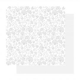 papier scrapbooking basic glitter paper blanc roses blanc irisé