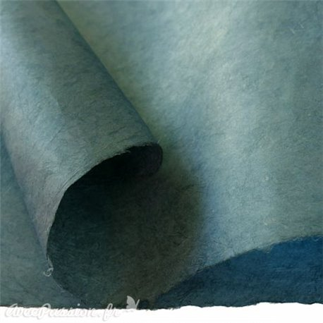 Papier népalais lokta lamaLi bleu papier-fantaise-cartonnage-papier-meuble-carton