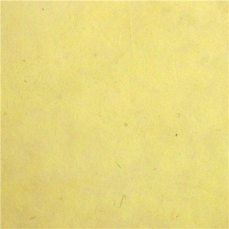 Papier népalais lokta lamaLi jaune anis papier-fantaise-cartonnage-papier-meuble-carton