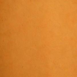 Papier népalais lokta lamaLi orange papier-fantaise-cartonnage-papier-meuble-carton