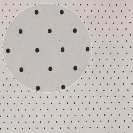papier népalais lokta lamaLi polka pois noir gris papier-fantaise-cartonnage-papier-meuble-carton