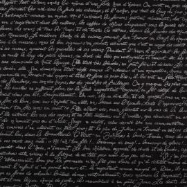 Papier népalais lokta noir écriture français papier-fantaise-cartonnage-papier-meuble-carton