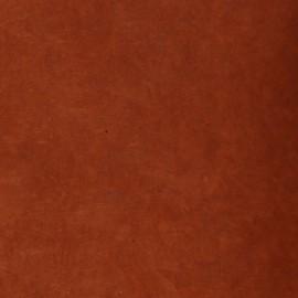 Papier népalais lokta terre de sienne brûlée papier-fantaise-cartonnage-papier-meuble-carton