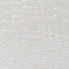 Papier simili cuir crocodile blanc papier-fantaise-cartonnage-papier-meuble-carton