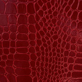 Papier Skivertex simili cuir crocodile rouge