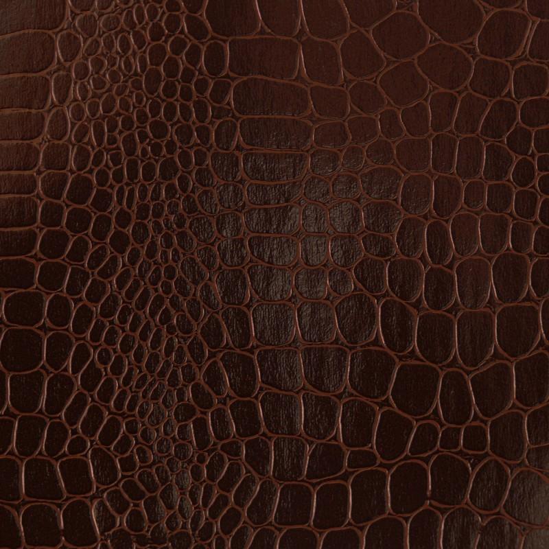 Papier skivertex pellaq croco simili crocodile marron for Papier peint cuir marron