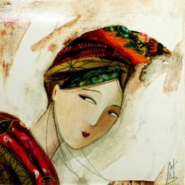 Carte postale Catherine Rebeyre visage ivoire II