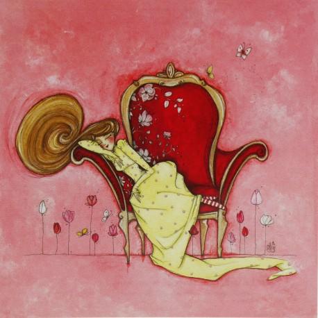 Carte postale Clélia Grillon le jardin des reves