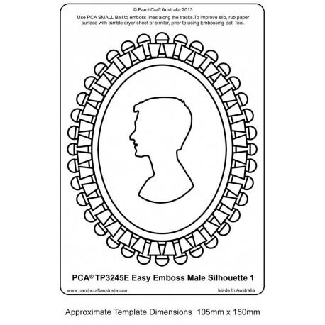 Template PCA gaufrage silhouette d'homme en médaillon