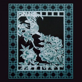 Dentelle de papier modèle de Julie Roces Garden Windows of Asia pattern 8