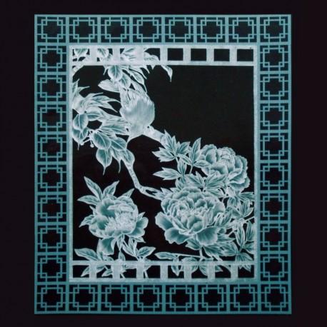 Dentelle de papier modèle de Julie Roces Garden Windows of Asia pattern 8