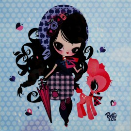 Carte postale Lilidoll mon arc en ciel