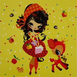 Carte postale Lilidoll mes petites lettres