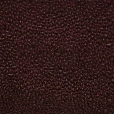 Papier simili cuir gum aubergine