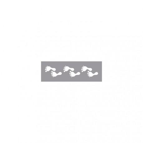 Perforatrice de bordures pieds 1x4 cm
