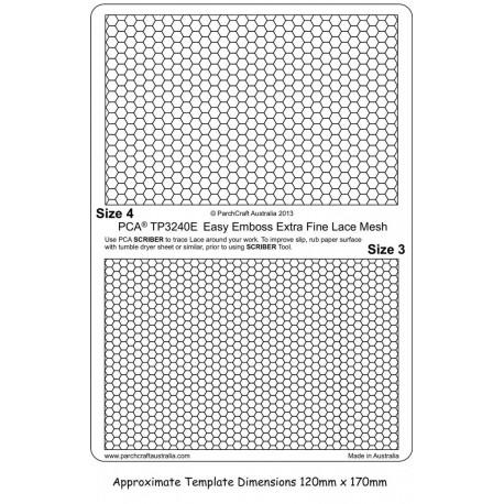 Template PCA maille extra fine de dentelle taille 1 et 2